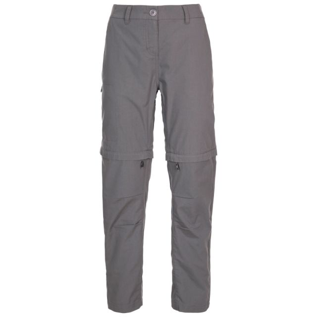 Trespass Women's Adventure UV Trousers Clink - STG, Front view on mannequin