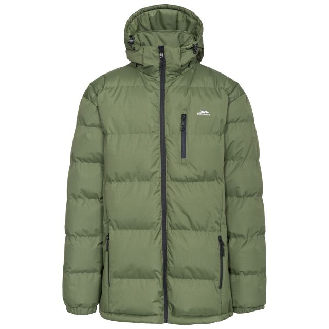 Clip Men's Hooded Padded Casual Jacket in Khaki