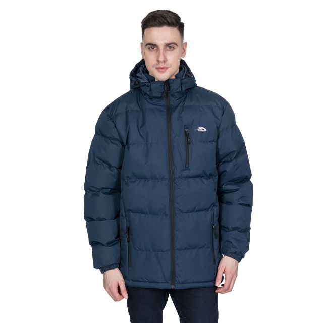 Clip Men's Hooded Padded Casual Jacket in Navy