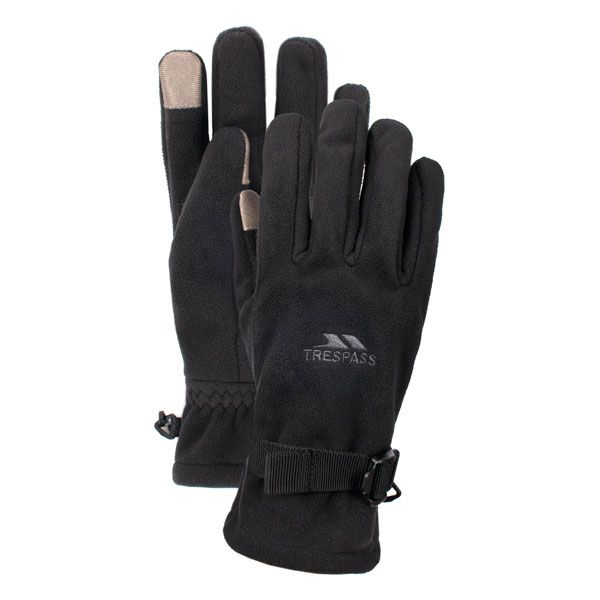 Trespass Adults Waterproof Gloves in Black Contact