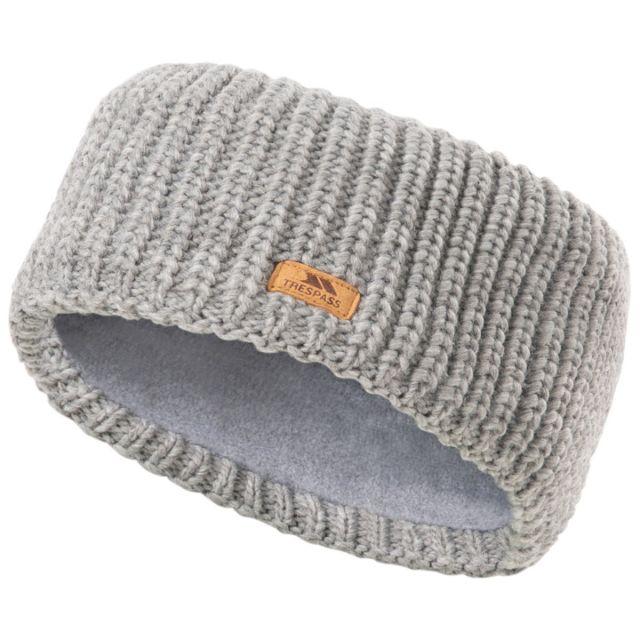 Trespass Adults Headband Microfleece Lined Coronet Dark Grey Marl, Hat at angled view