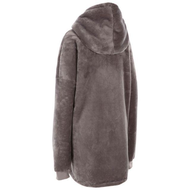 Trespass Unisex Oversized Fleece Hoodie in Grey Cosiness
