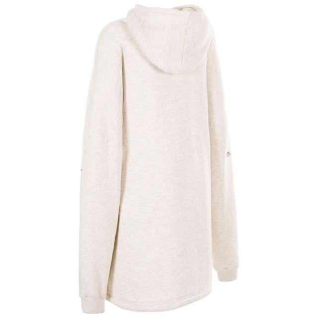 Trespass Unisex Oversized Fleece Hoodie in Grey Marl Cosy