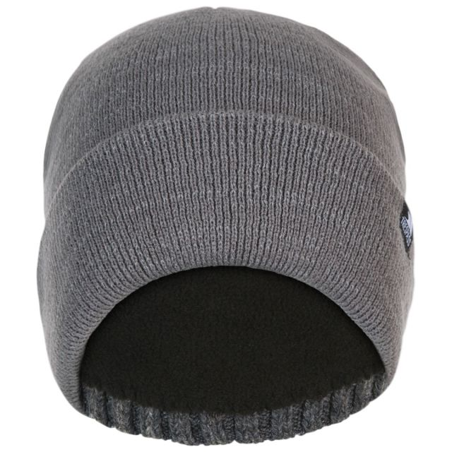 Trespass Adults Beanie Hat Reflective Double Layer in Grey Crackle