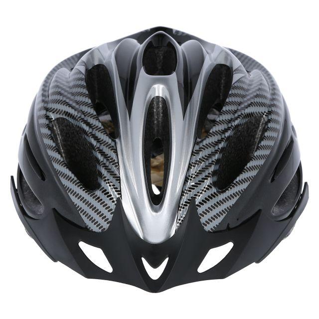 Crankster Adult Bike Helmet in Black, Angled view of helmet