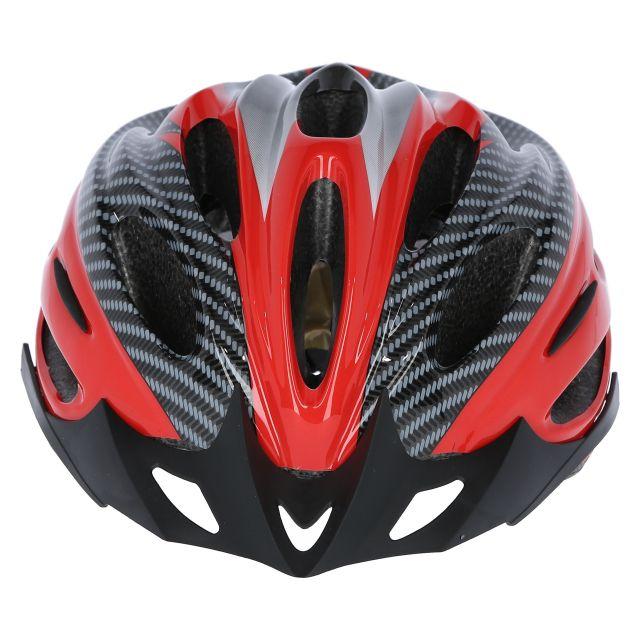 Crankster Adult Bike Helmet in Red, Angled view of helmet