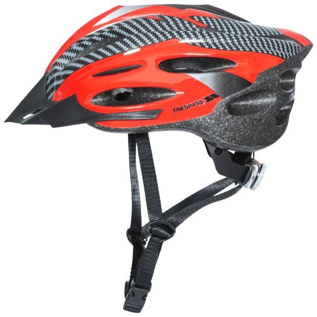 Trespass Adult Bike Helmet in Red Crankster