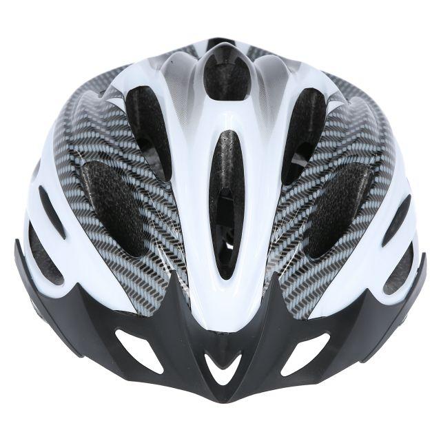 Crankster Adult Bike Helmet in White, Angled view of helmet