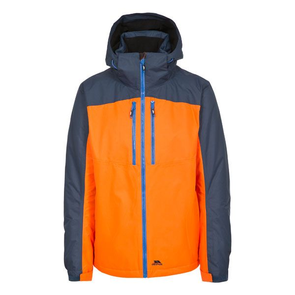Crashed Men's Waterproof Ski Jacket in Yellow, Front view on mannequin