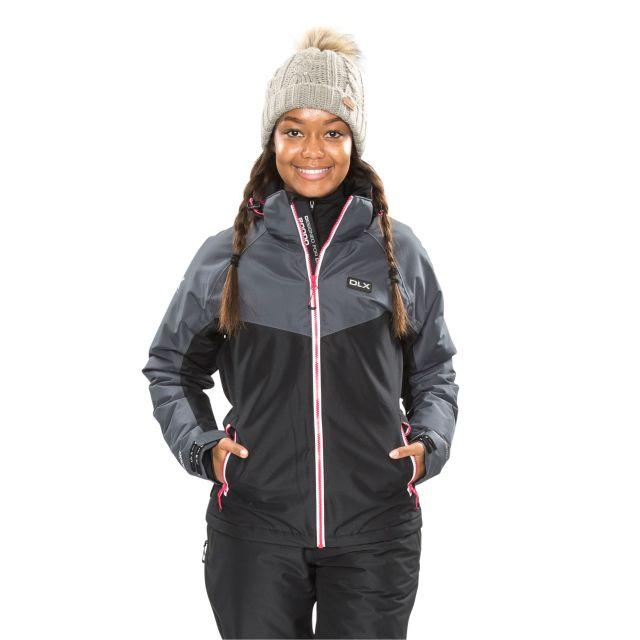 DLX Womens Ski Jacket Windproof Insulated Crista Black