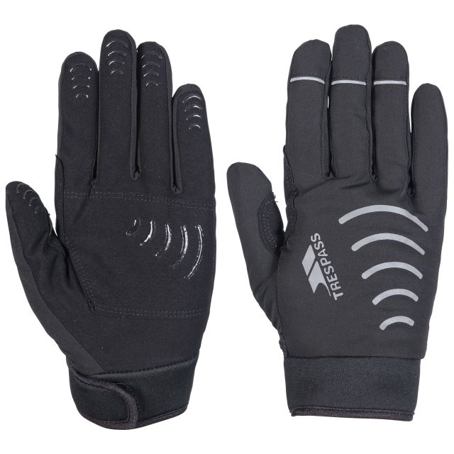 Trespass Adults Waterproof Gloves in Black Crossover