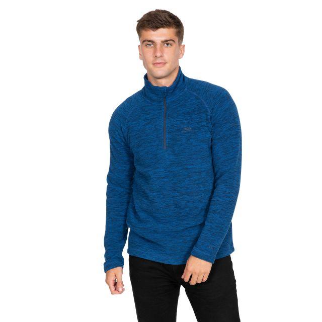 Crucial Men's 1/2 Zip Fleece in Blue