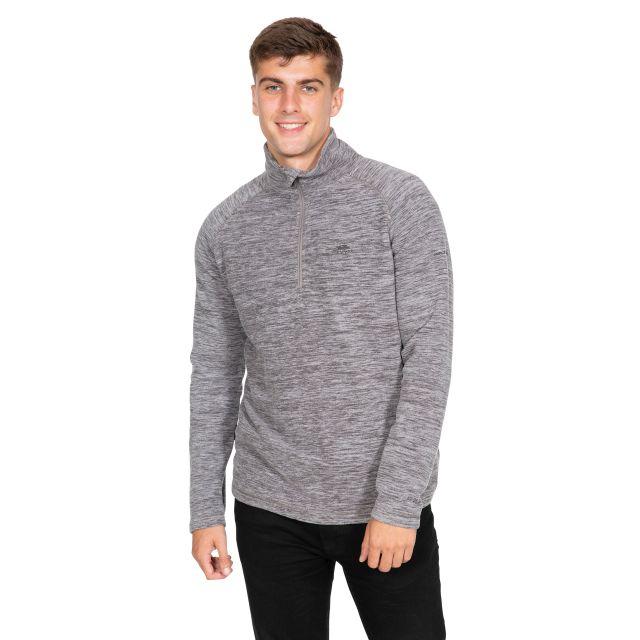 Crucial Men's 1/2 Zip Fleece in Light Grey