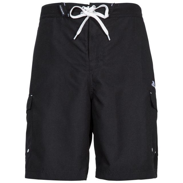 Crucifer Men's Swim Shorts in Black, Front view on mannequin