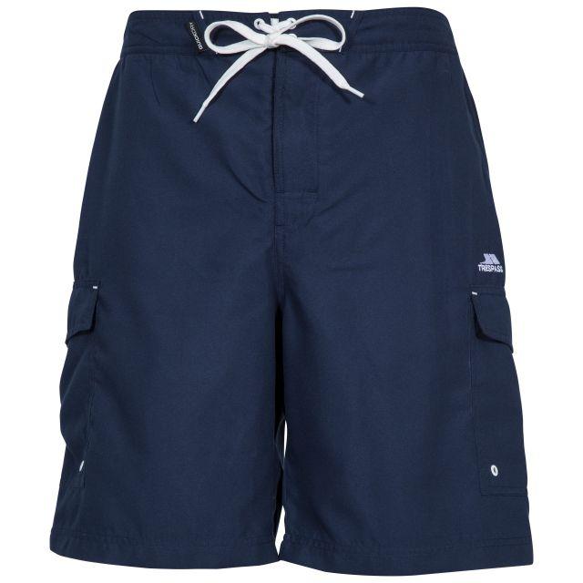 Crucifer Men's Swim Shorts in Navy, Front view on mannequin