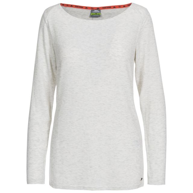 Daintree Women's Insect Repellent Long Sleeve T-Shirt in White, Front view on mannequin