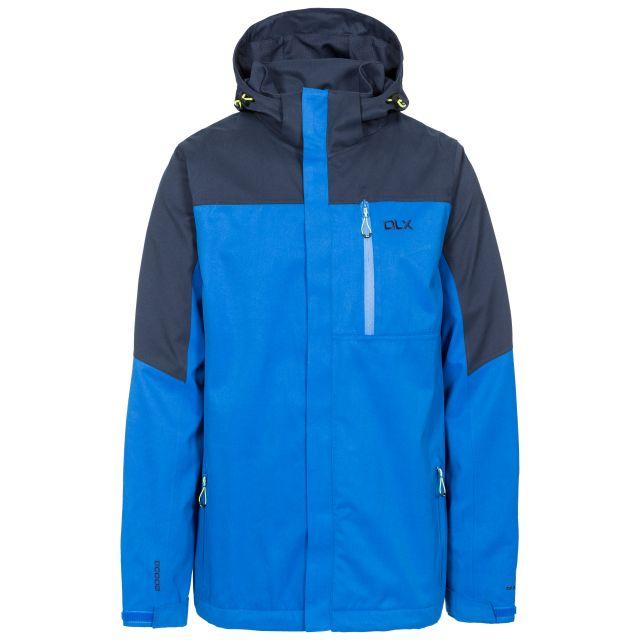 Danson Men's DLX Waterproof Jacket in Blue, Front view on mannequin