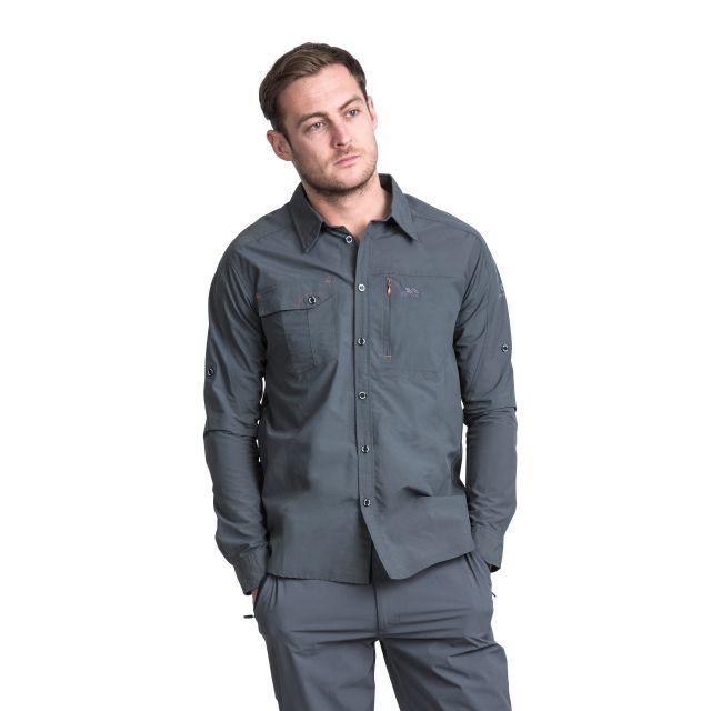 Darnet Men's Mosquito Repellent Shirt in Grey