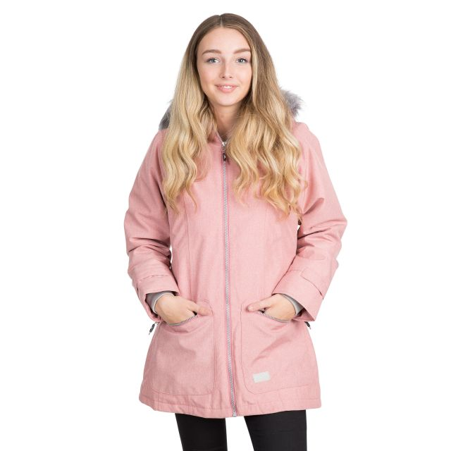 Trespass Womens Waterproof Parka Jacket Day by Day Dusty Rose