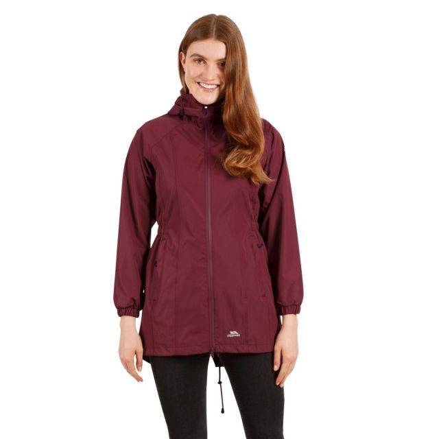 Trespass Womens Waterproof Jacket Long Length Daytrip Purple