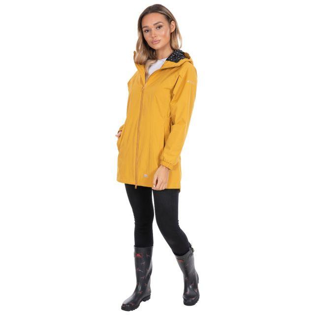Trespass Womens Waterproof Jacket Long Length Daytrip Yellow