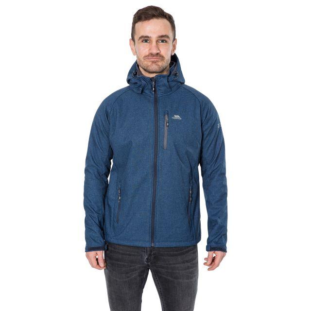 Desmond Men's Hooded Softshell Jacket in Navy