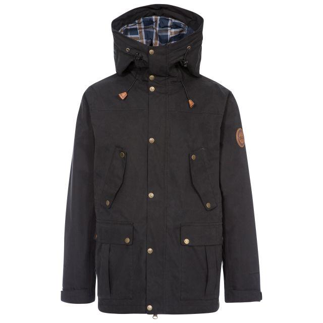 Destroyer Men's DLX Waterproof Jacket in Black, Front view on mannequin