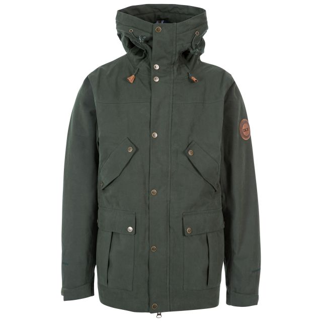 Destroyer Men's DLX Waterproof Jacket in Khaki, Front view on mannequin