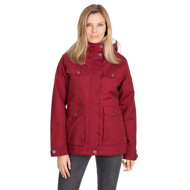 Devoted Women's Fleece Lined Waterproof Jacket in Red
