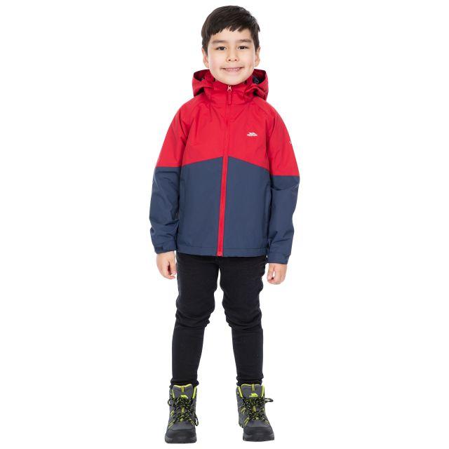 Trespass Kids Waterproof Jacket in Red Dexterous