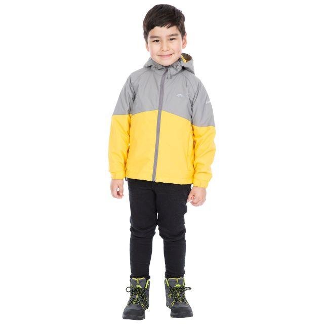 Trespass Kids Waterproof Jacket in Grey Dexterous