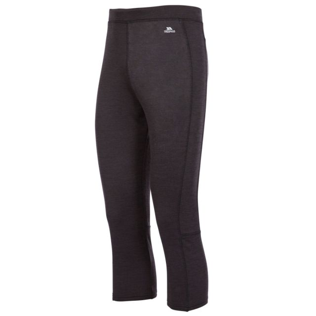 Trespass Mens Grey Quick Dry 3/4 Length Base Layer Bottoms Diego