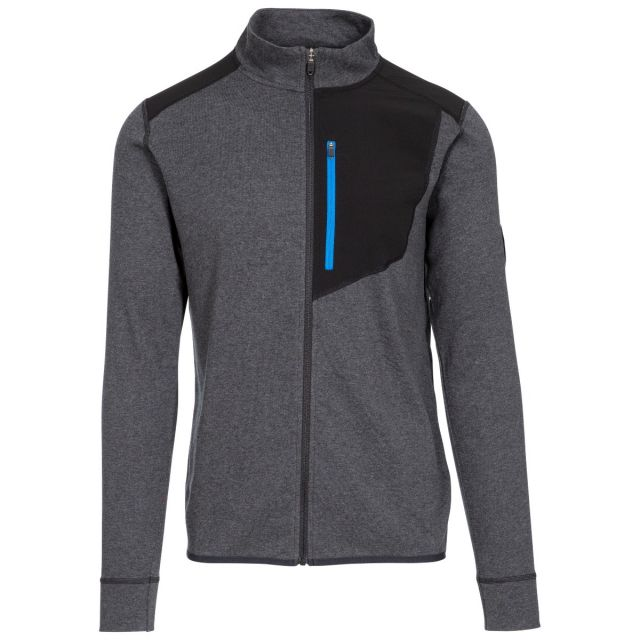 Dillon Men's DLX Active Top in Black, Front view on mannequin