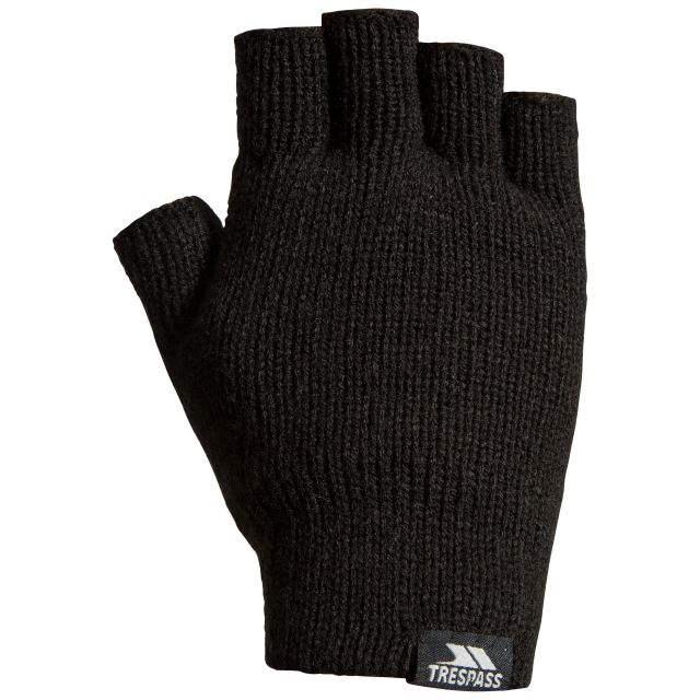 Trespass Adults Fingerless Gloves in Black Dita