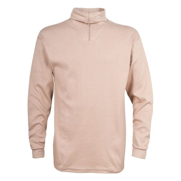 Dolomite Youth Thermal Top in Beige, Front view on mannequin