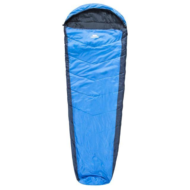 Doze 3 Season Water Repellent Sleeping Bag in Blue, Front view