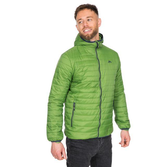 Dunbar Men's Hooded Lightweight Jacket in Green