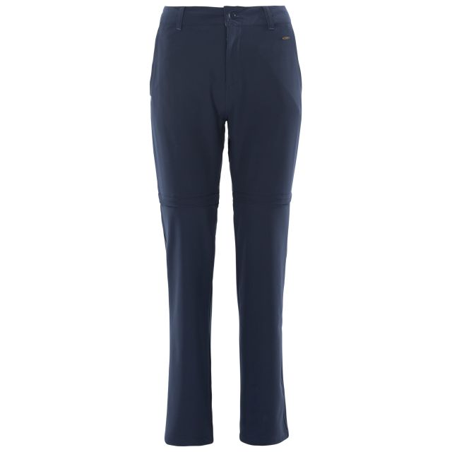 Eadie Women's Water Resistant Walking Trousers in Navy, Front view on model