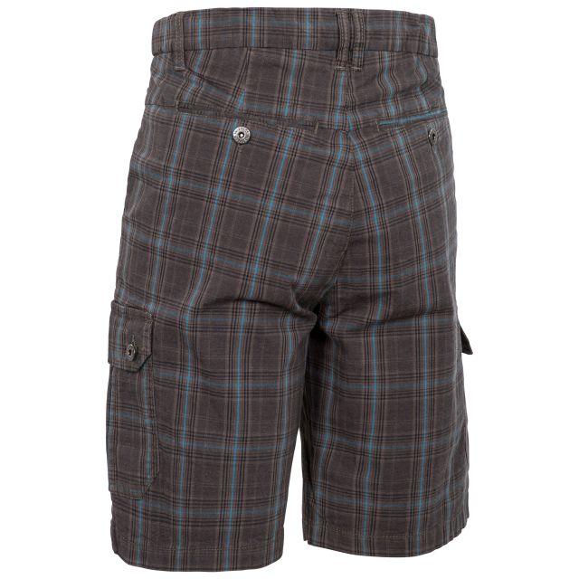 Earwig Men's Checked Cargo Shorts in Grey