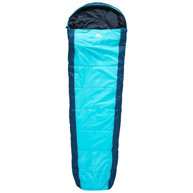 Echotec 4 Season Blue Hollowfibre Sleeping Bag in Blue, Fastening detail of sleeping bag