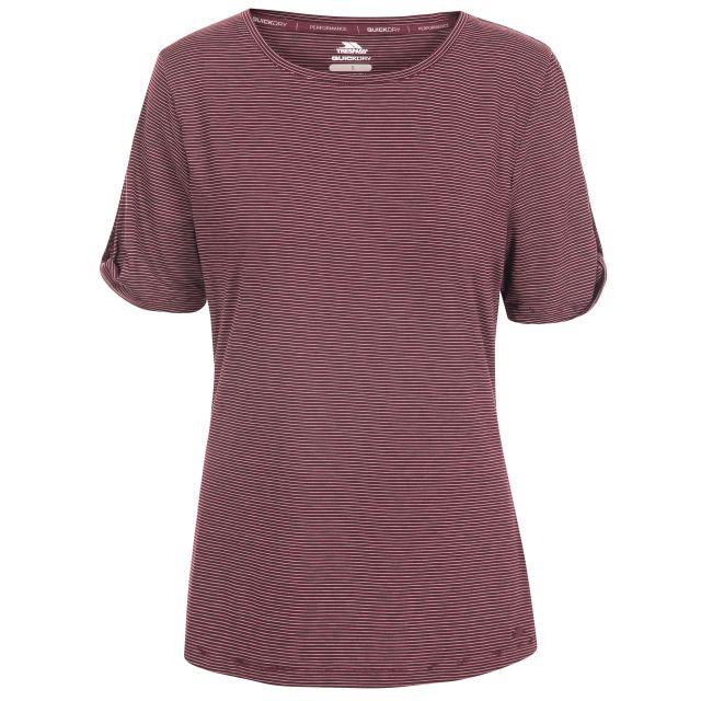 Eden Women's Quick Dry T-Shirt in Purple, Front view on mannequin