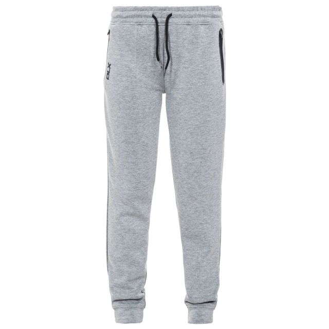 Elara Women's DLX Knitted Tracksuit Bottoms in Light Grey, Front view on mannequin