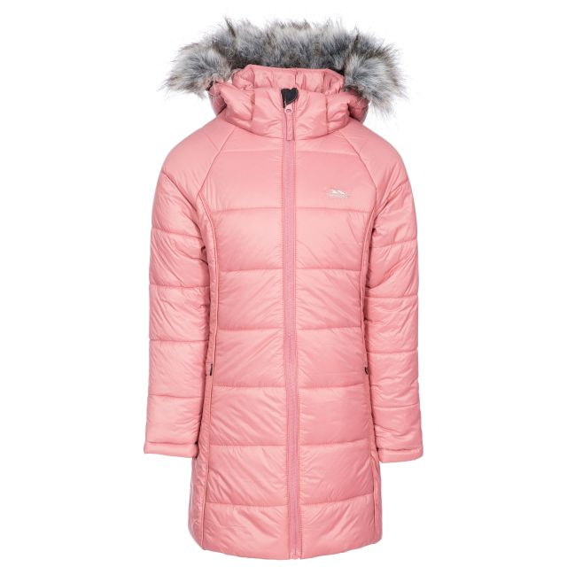 Elimore Kids' Padded Casual Jacket in Pink, Front view on mannequin