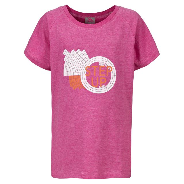 Trespass Kids Printed T-shirt in Pink Elva