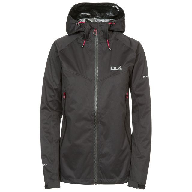 DLX Womens Waterproof Jacket with Hood Erika II Black