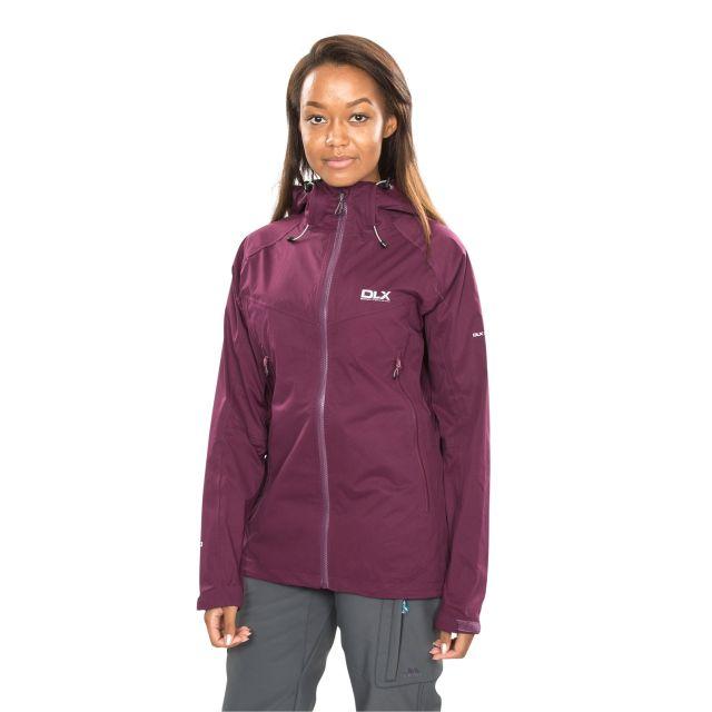 DLX Womens Waterproof Jacket with Hood Erika II Burgundy