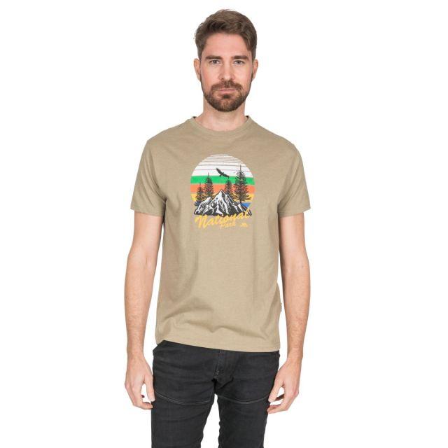 Estate Men's Printed Casual T-Shirt in Beige