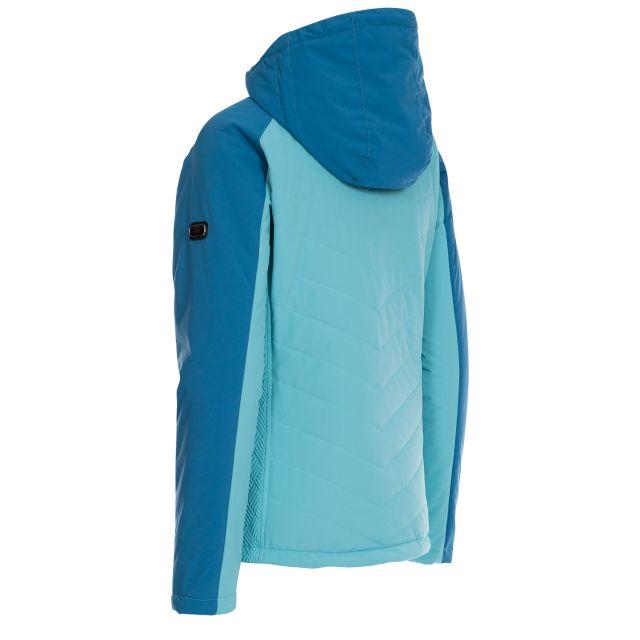 Trespass Womens Ski Jacket Waterproof Padded Eva Aquamarine