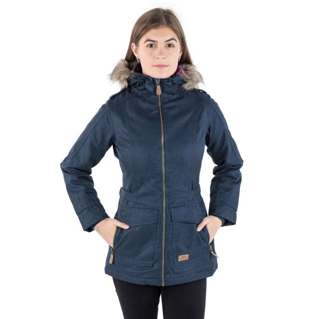 Everyday Women's Padded Waterproof Jacket in Navy - B CODE