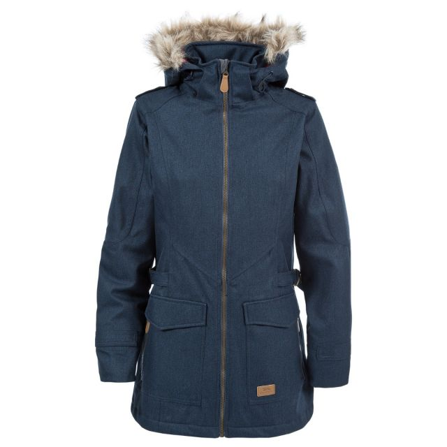 Everyday Women's Padded Waterproof Jacket in Navy, Front view on mannequin